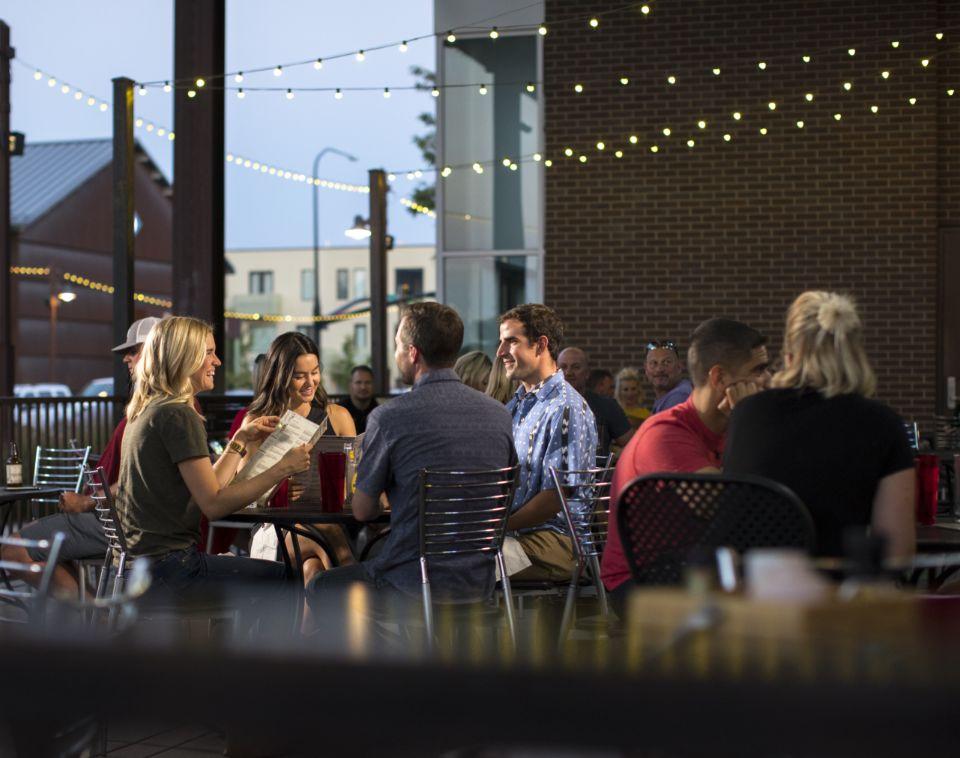 Group Eating at Daybreak Restaurant   Daybreak Utah, Master Planned Community