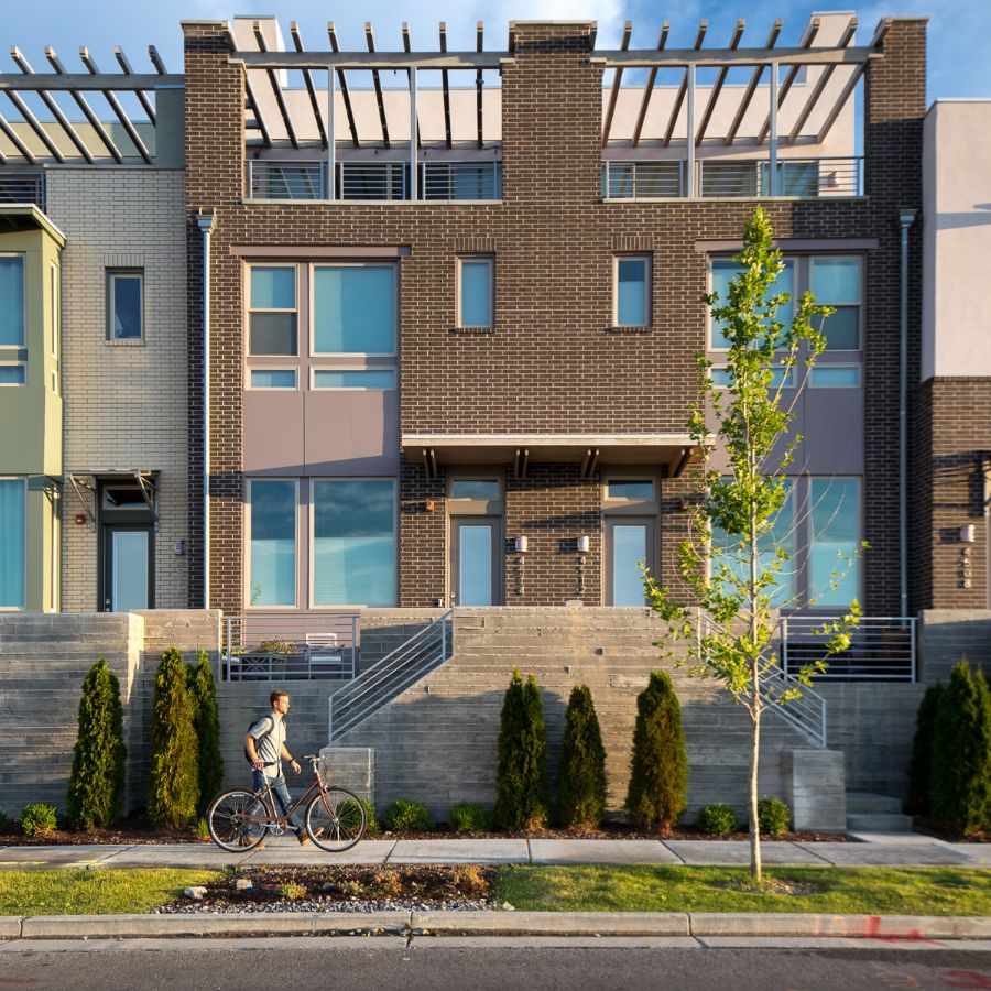 Exterior of Townhomes at Daybreak Utah in South Jordan
